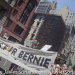 Sunday, June 26, 2016. Manhattan, New York City - Bernie Sanders supporters marching in the New York City Pride March.  Domingo 26 de junio de 2016. Manhattan, ciudad de Nueva York - Personas que apoyan a Bernie Sanders marchando en la Marcha del Orgullo LGBTQ.  Photo by Javier Soriano/www.JavierSoriano.com