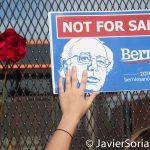 "7/26/2016 - Philadelphia, Pa.  ""Not for Sale. Bernie for president."" Photo by Javier Soriano/http://www.JavierSoriano.com/"
