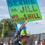 "7/26/2016 - Philadelphia, Pa.  ""Bernie or Jill. No hawkish $Hill."" Photo by Javier Soriano/http://www.JavierSoriano.com/"