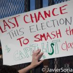 """7/26/2016 - Philadelphia, Pa.  """"Last chance this election to smash the capitalist class!"""" Photo by Javier Soriano/http://www.JavierSoriano.com/"""