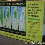 """7/26/2016 - Philadelphia, Pa.  """"Is this ethnic cleansing? 4.7 million Palestinians are classified by the U.  N. as refugees."""" Photo by Javier Soriano/http://www.JavierSoriano.com/"""