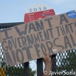 """7/26/2016 - Philadelphia, Pa.  """"I want a government that is not for sale."""" Photo by Javier Soriano/http://www.JavierSoriano.com/"""