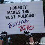 "7/26/2016 - Philadelphia, Pa.  ""Honesty makes the best policies. Bernie 2016."" Photo by Javier Soriano/http://www.JavierSoriano.com/"