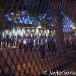 7/26/2016 - Philadelphia, Pa. The DNC wall and Philly police officers.Photo by Javier Soriano/http://www.JavierSoriano.com/