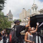 8/2/2016 Abolition Park ( City Hall Park). NYC - #ShutDownCityHallNYC activists celebrate the resignation of Bill Bratton, NYPD Commissioner. Photo by Javier Soriano/http://www.JavierSoriano.com/