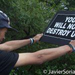8/2/2016 - #ShutDownCityHallNYC protesters in Abolition Park ( City Hall Park). NYC. Photo by Javier Soriano/http://www.JavierSoriano.com/