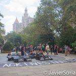 8/2/2016 Abolition Park ( City Hall Park). NYC - #ShutDownCityHallNYC activists. Photo by Javier Soriano/http://www.JavierSoriano.com/