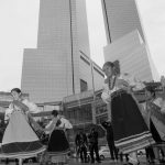 10/9/16 NYC - 9th Annual Indigenous Day Of Remembrance. Quechua young girls dancing. It was raining. #WaterIsSacred. Photo by Javier Soriano/http://www.JavierSoriano.com/