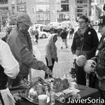 10/9/16 NYC - 9th Annual Indigenous Day Of Remembrance. Offering tobacco to the spirits. Photo by Javier Soriano/http://www.JavierSoriano.com/