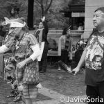 10/9/16 NYC - 9th Annual Indigenous Day Of Remembrance. Mexica Dancers. Photo by Javier Soriano/http://www.JavierSoriano.com/