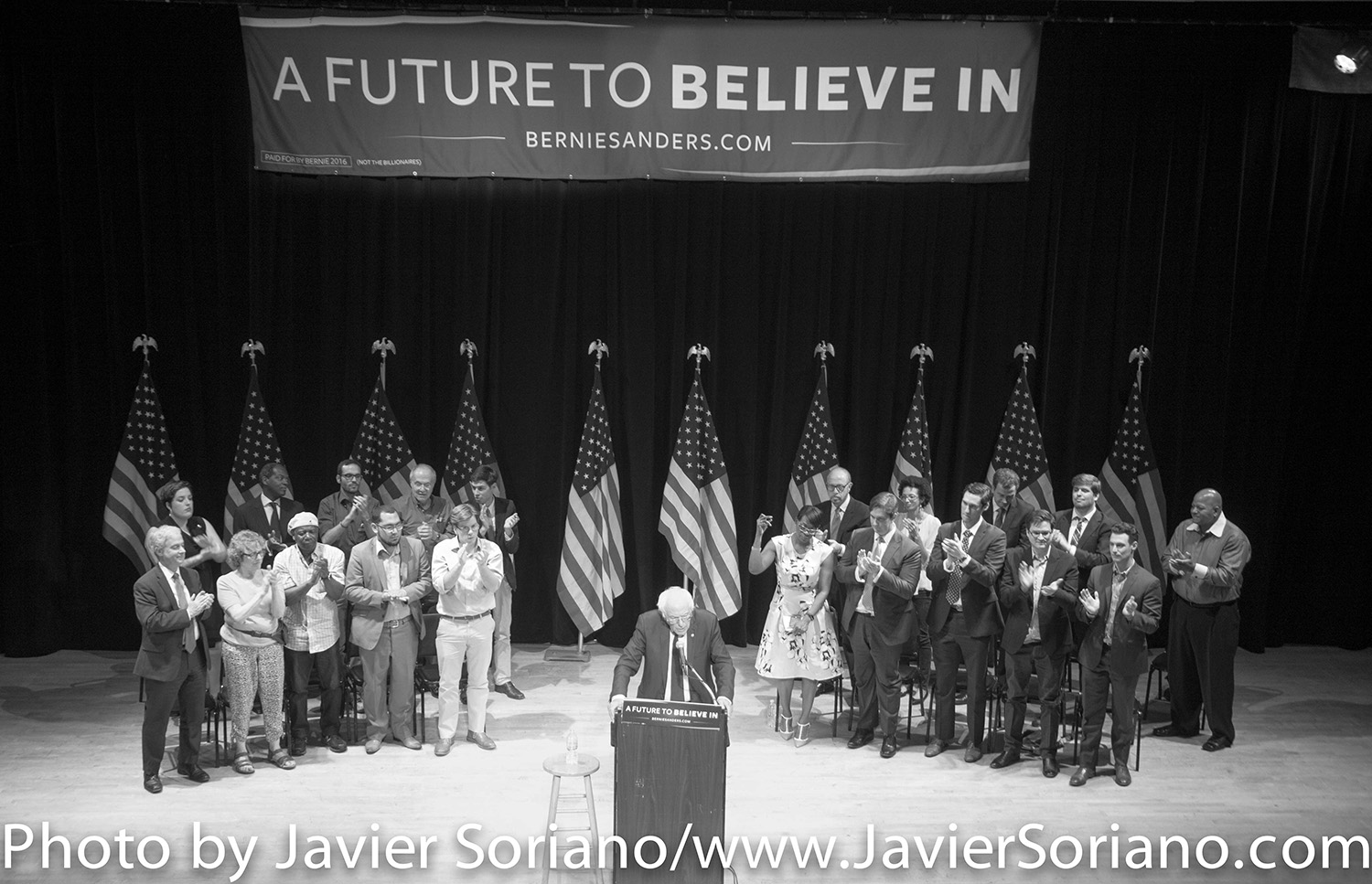 6/23/2016 Town Hall. Manhattan, NYC – Bernie Sanders and his supporters. Photo by Javier Soriano/http://www.JavierSoriano.com/