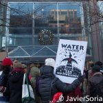 12/15/2016 NYC - Water protectors in front of Citi Group headquarters in Manhattan. Photo by Javier Soriano/www.JavierSoriano.com