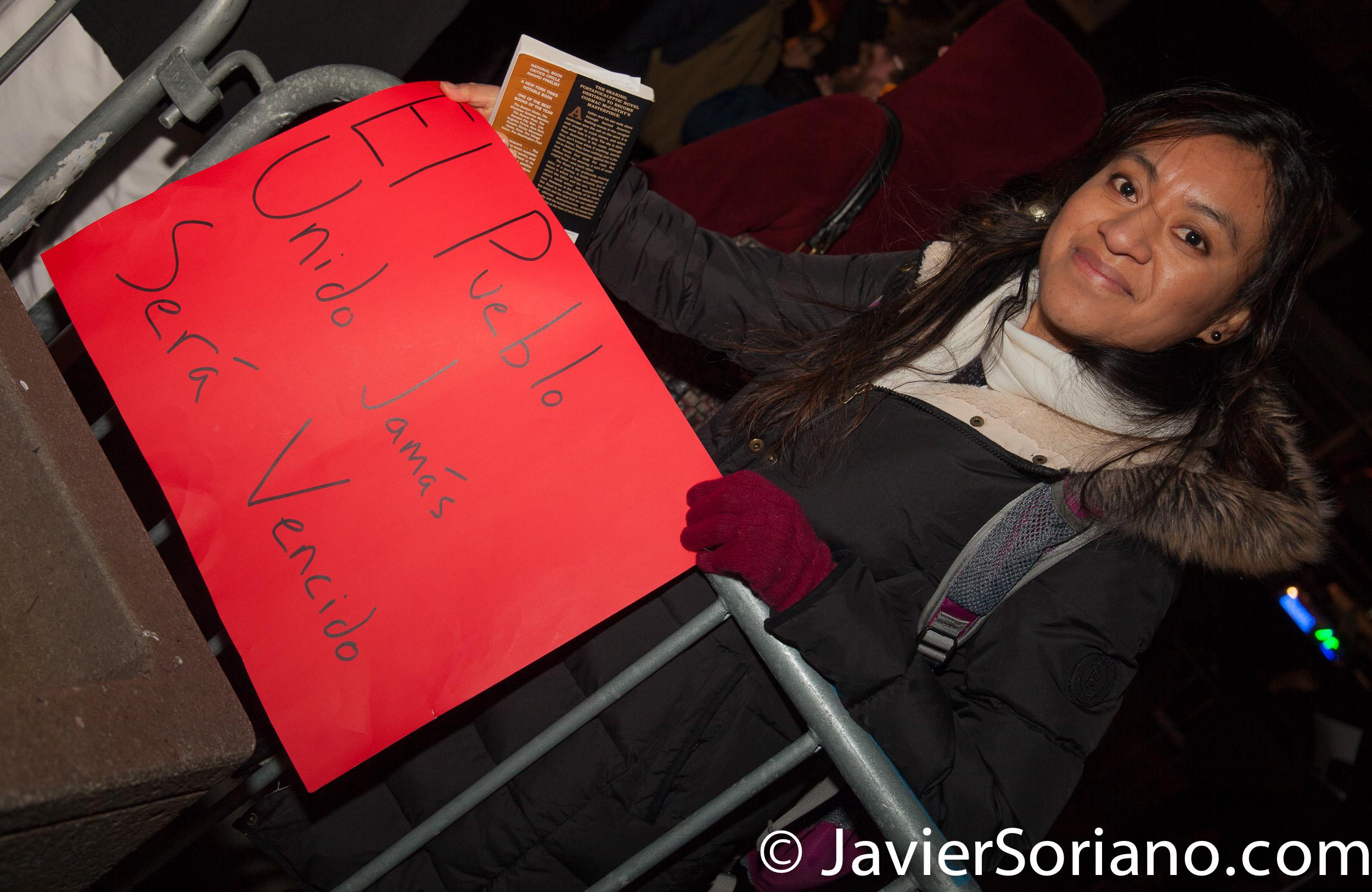 2/16/2017 NYC - Stop ICE raids and Free Daniel Ramirez Medina. Photo by Javier Soriano/www.JavierSoriano.com