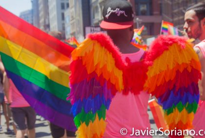 6/26/2016 Manhattan, NYC - LGBTQ Pride March in New York City. Photo by Javier Soriano/www.JavierSoriano.com