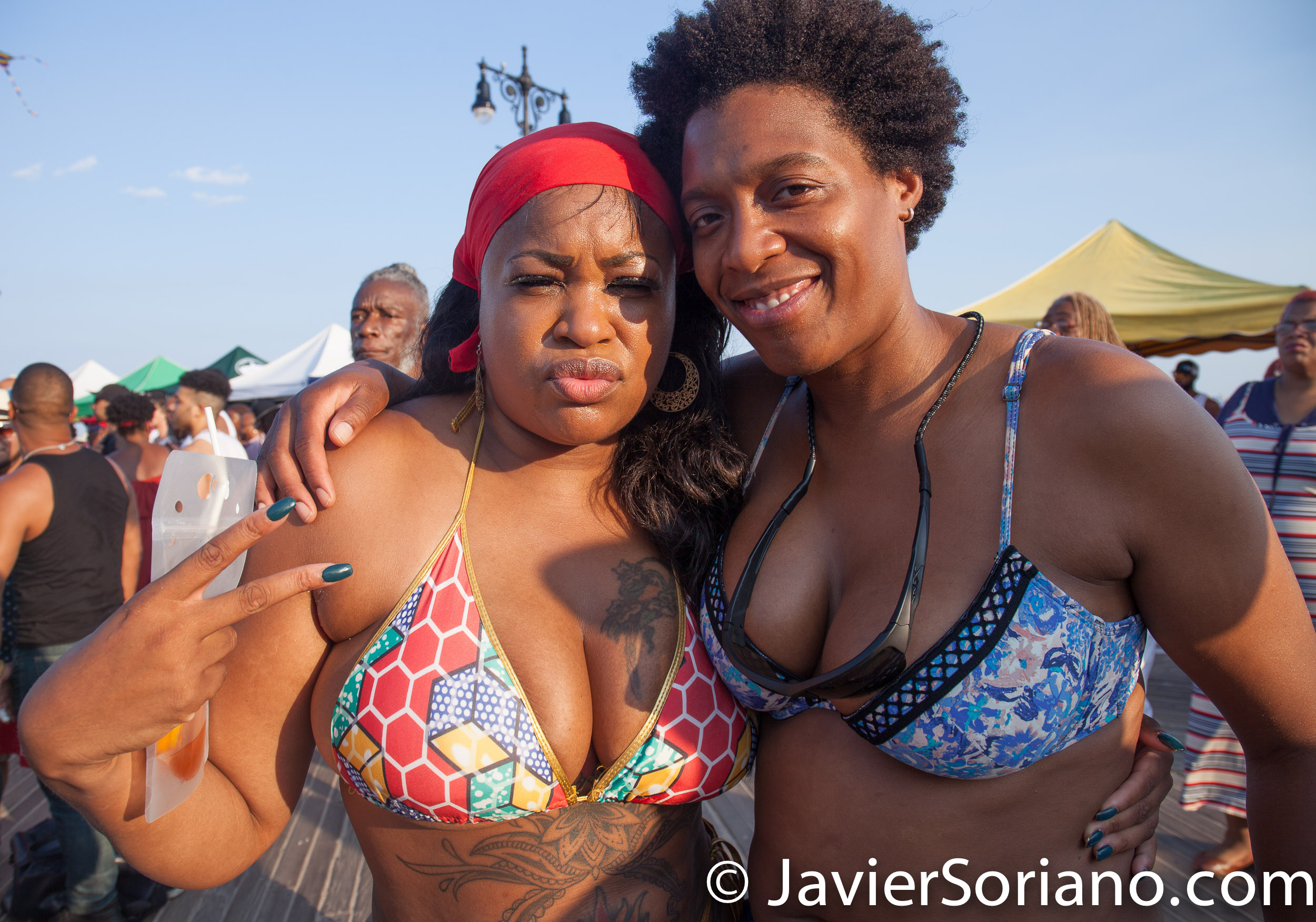 8/20/2017. Coney Island. Brooklyn, NYC - Pride at the Beach. NYC Black Pride 2017. Photo by Javier Soriano/www.JavierSoriano.com