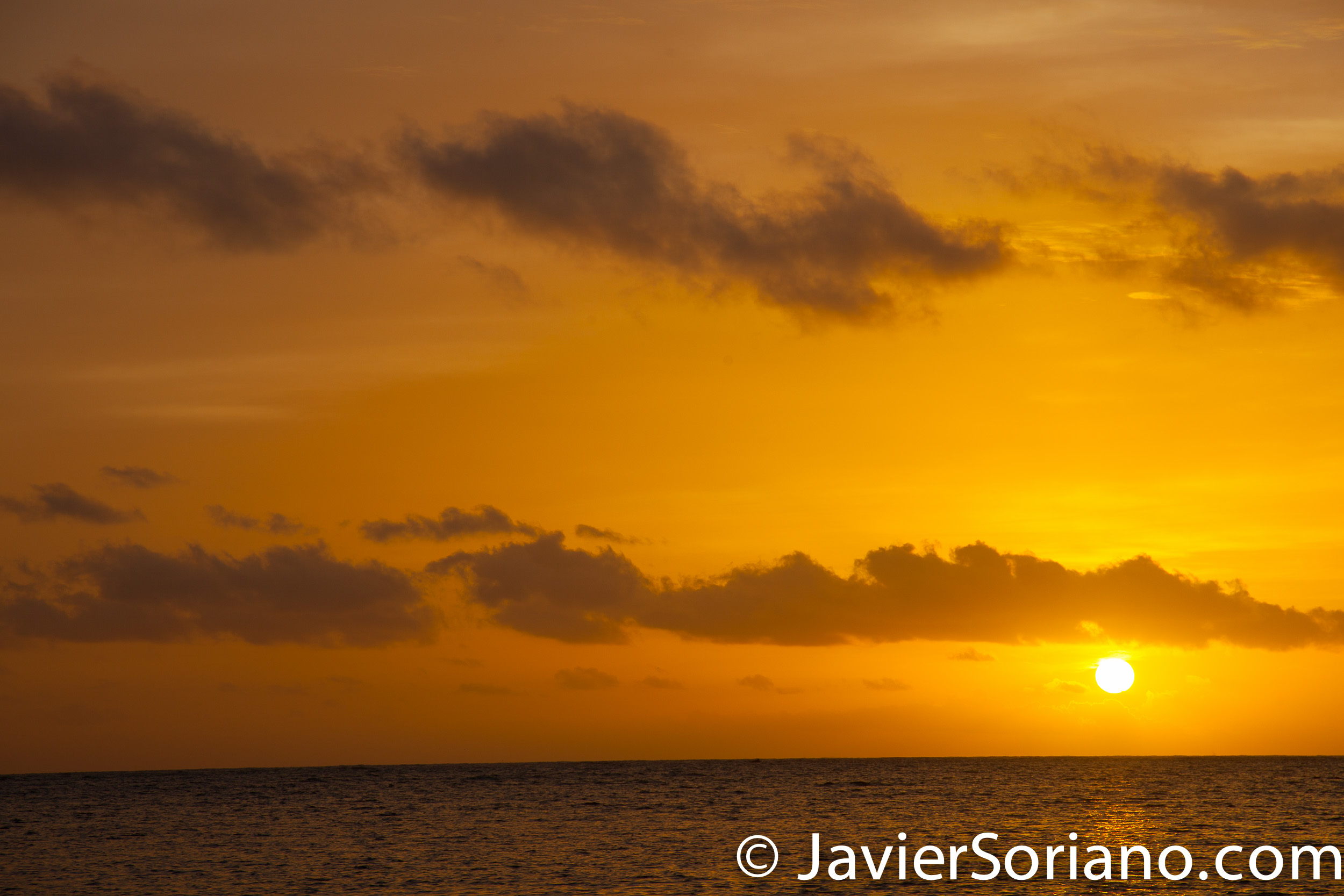 9/16/2017. Melia Coco Beach Resort. Rio Grande. Puerto Rico. Finally. I colorful sunrise. Thanks universe! Happy Mexican Independence Day! ¡Viva México! Photo by Javier Soriano/www.JavierSoriano.com
