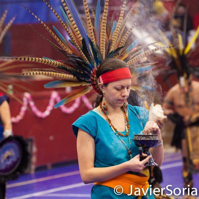 """Domingo, 17 de Marzo, 2019. Bronx, Ciudad de Nueva York - El XVII Festival Folklórico Mexicano se realizó hoy y fue todo un éxito. Este es """"Cetiliztli Nauhcampa Quetzalcoatl in Ixachitlan"""". Foto por Javier Soriano/www.JavierSoriano.com"""
