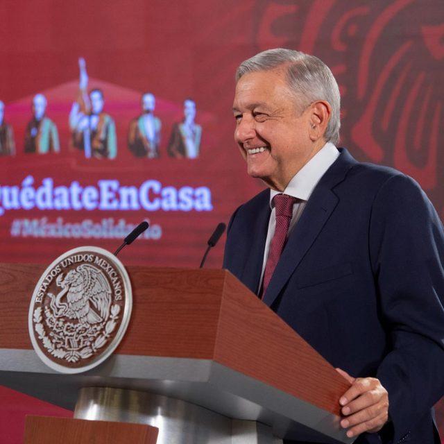 Jueves 28 de mayo de 2020 - Presidente mexicano Andrés Manuel López Obrador (AMLO). Foto por el gobierno mexicano.