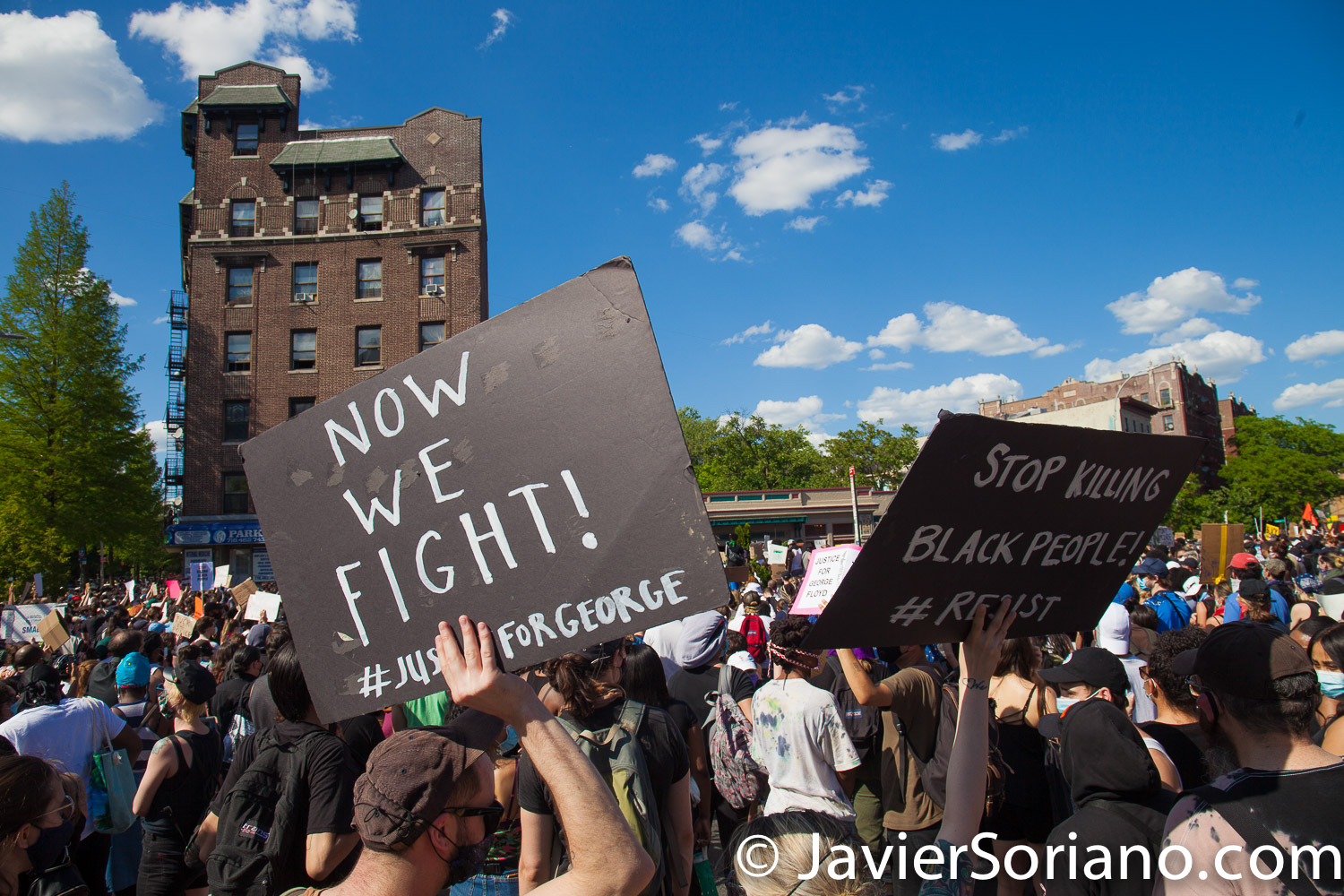 Saturday, May 30, 2020. Brooklyn, New York City - Rally in Flatbush to demand justice for George Floyd. Photo by Javier Soriano/www.JavierSoriano.com