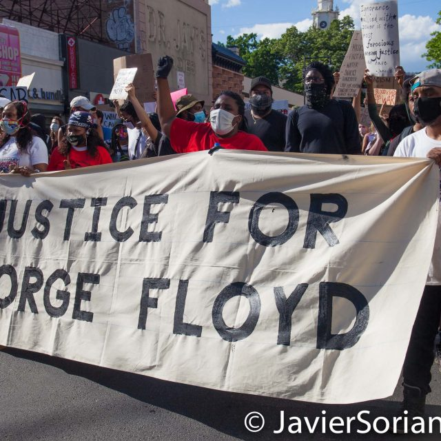 Saturday, May 30, 2020. Brooklyn, New York City - March in Flatbush to demand justice for George Floyd. Photo by Javier Soriano/www.JavierSoriano.com
