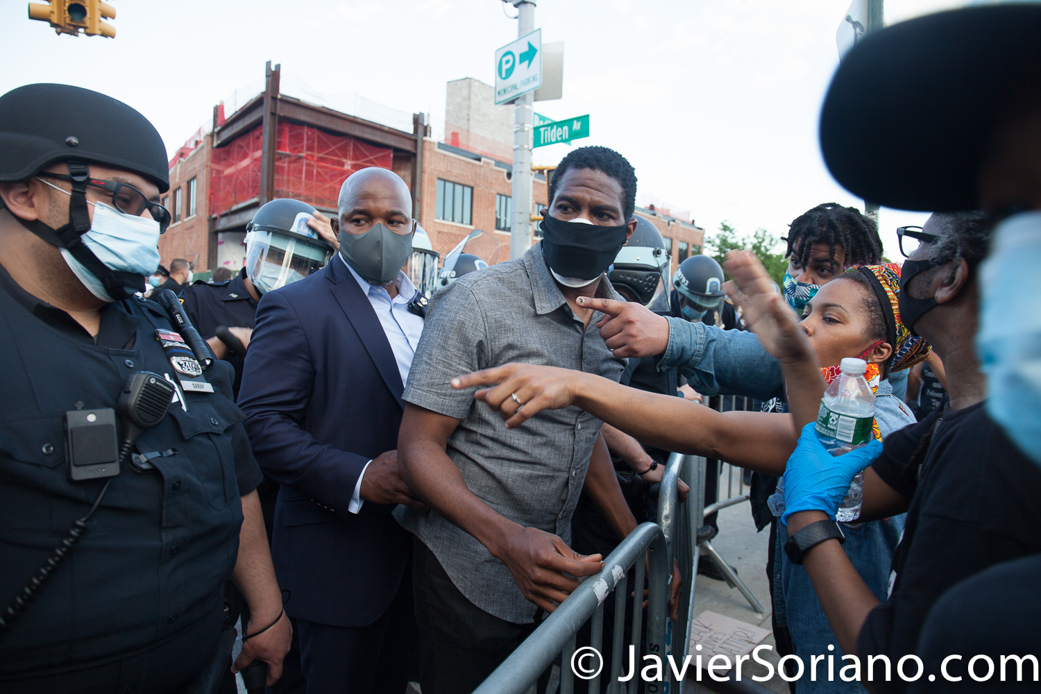 Saturday, May 30, 2020. Brooklyn, New York City - March in Flatbush to demand justice for George Floyd. New York City Public Advocate Jumaane D. Williams attended the march. Photo by Javier Soriano/www.JavierSoriano.com