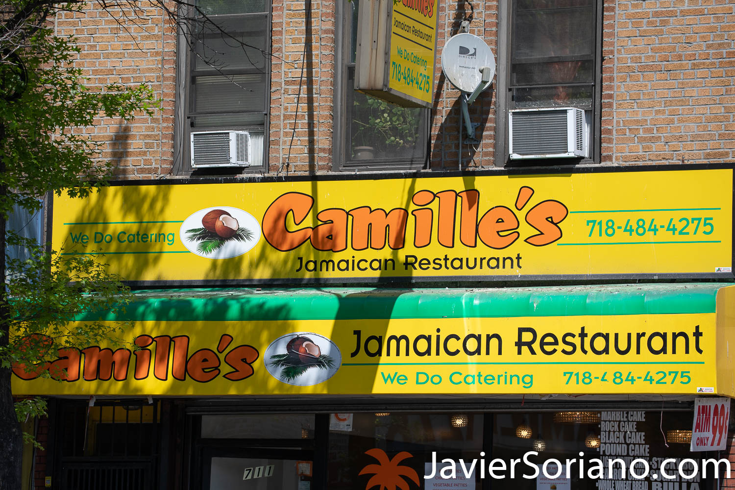 Thursday, May 21, 2020. Brooklyn, New York City - Jamaican restaurant. Camille's. Jueves 21 de mayo de 2020. Brooklyn, ciudad de Nueva York - Restaurante Jamaiquino. Camille's. Photo by Javier Soriano/www.JavierSoriano.com