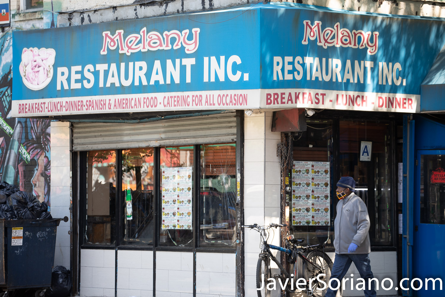 Thursday, May 21, 2020. Brooklyn, New York City - Dominican restaurant. Melany. Jueves 21 de mayo de 2020. Brooklyn, ciudad de Nueva York - Restaurante dominicano. Melany. Photo by Javier Soriano/www.JavierSoriano.com