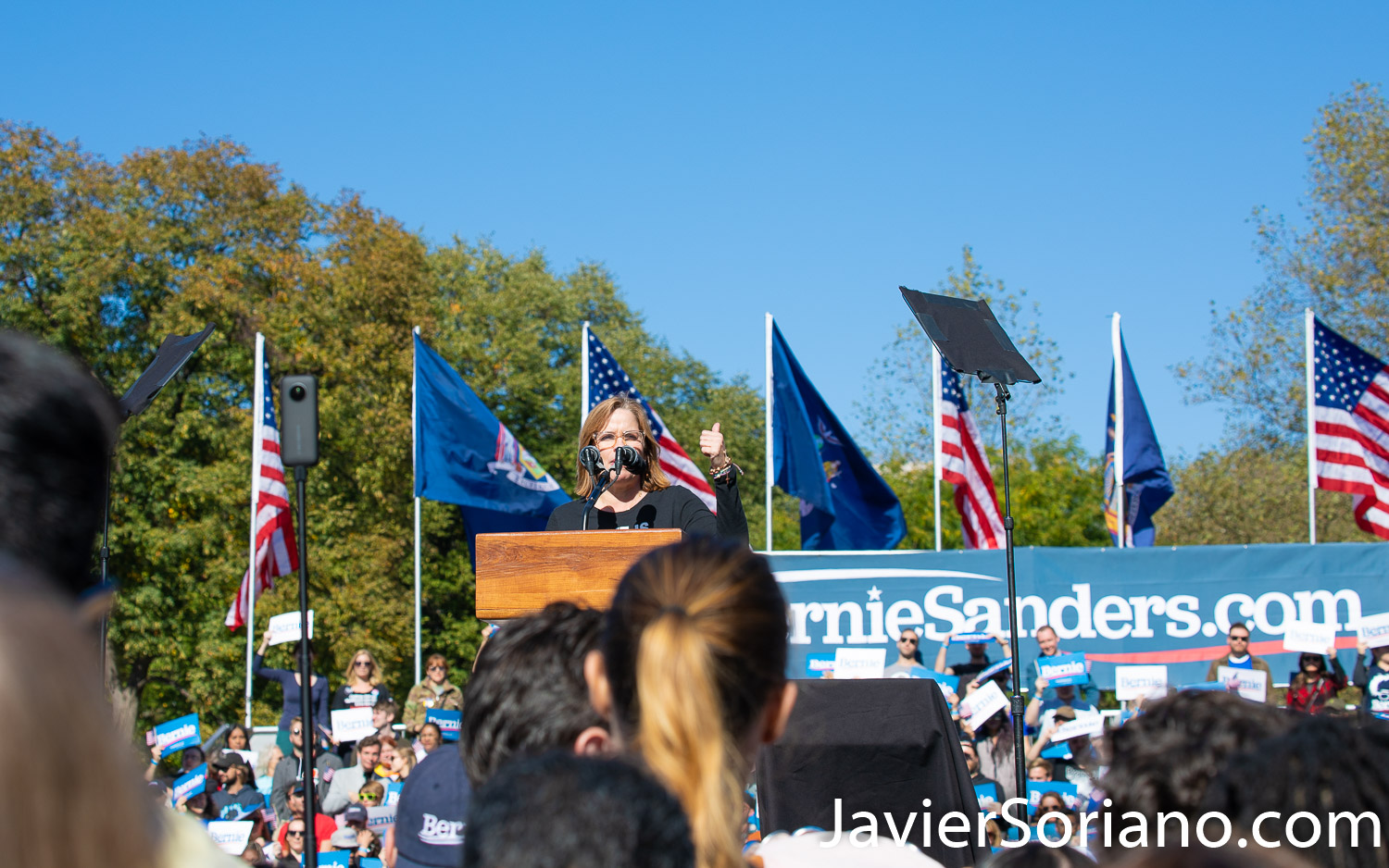 Saturday, October 19, 2019. Queens, New York City - Today Bernie Sanders had a rally in Queens. Almost 26 thousand people attended the event. Mayor Carmen Yulín Cruz Soto was one of the speakers. Photo by Javier Soriano/www.JavierSoriano.com
