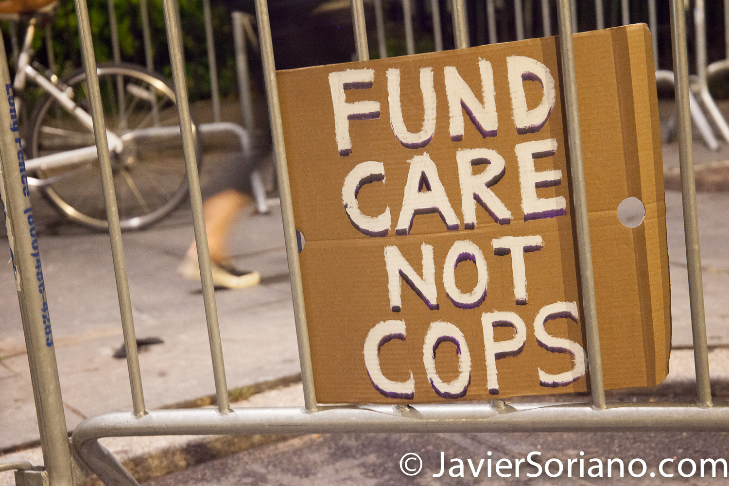 "Monday, June 29, 2020. New York City – ""Mass March to Defund the NYPD and Abolish the Police"" organized by NYC-DSA. People gathered in Washington Square Park in Manhattan and marched to City Hall Park to join people at ""Occupy City Hall"". Protesters ""demand that the City Council cut the NYPD police force and the NYPD budget in half and re-invest in community and social needs."" Protesters at ""Occupy City Hall"". Photo by Javier Soriano/www.JavierSoriano.com"