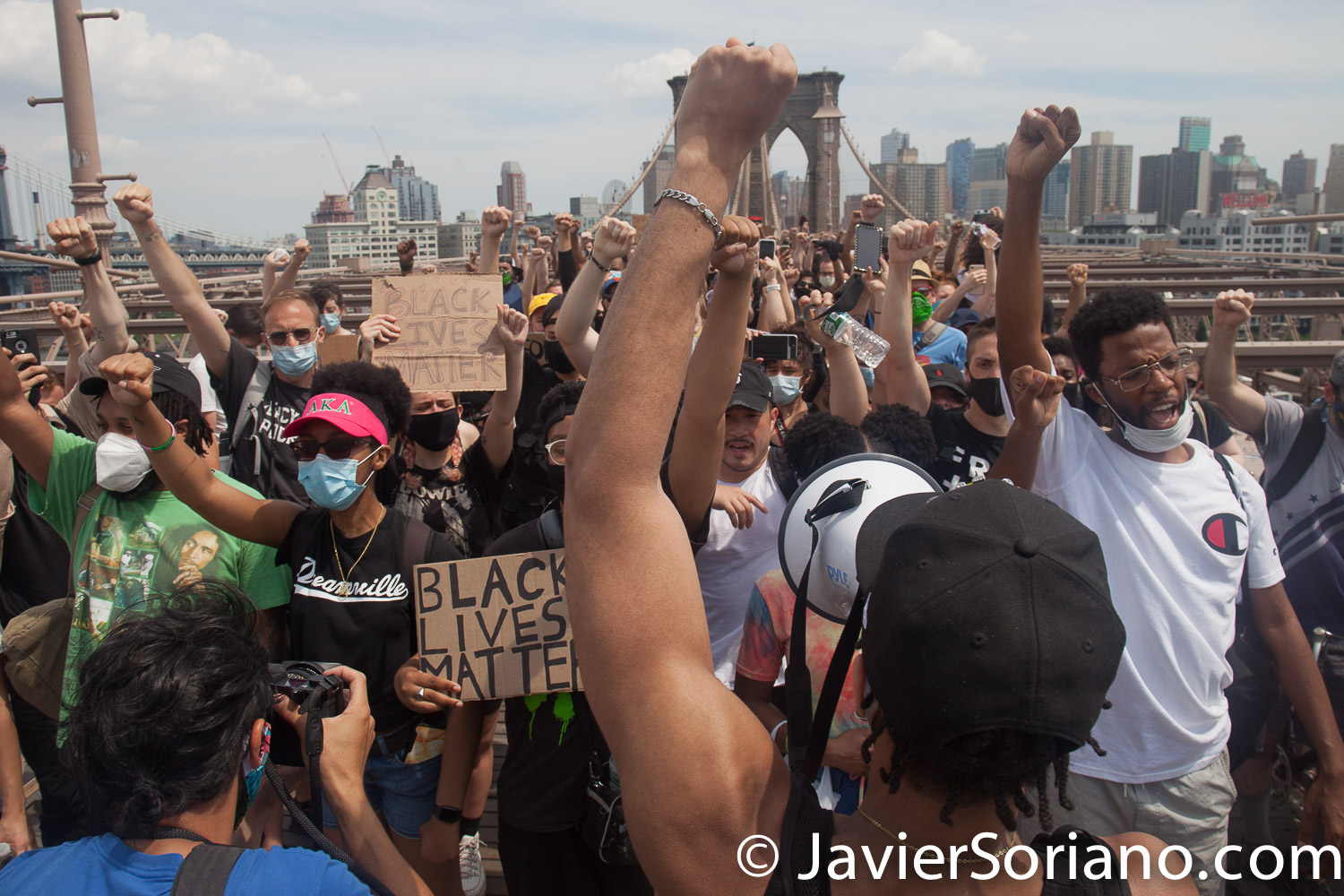 Saturday, June 6, 2020. Brooklyn, New York City – Thousands of New Yorkers tell NYC Mayor Bill de Blasio: DEFUND THE NYPD! Photo by Javier Soriano/www.JavierSoriano.com
