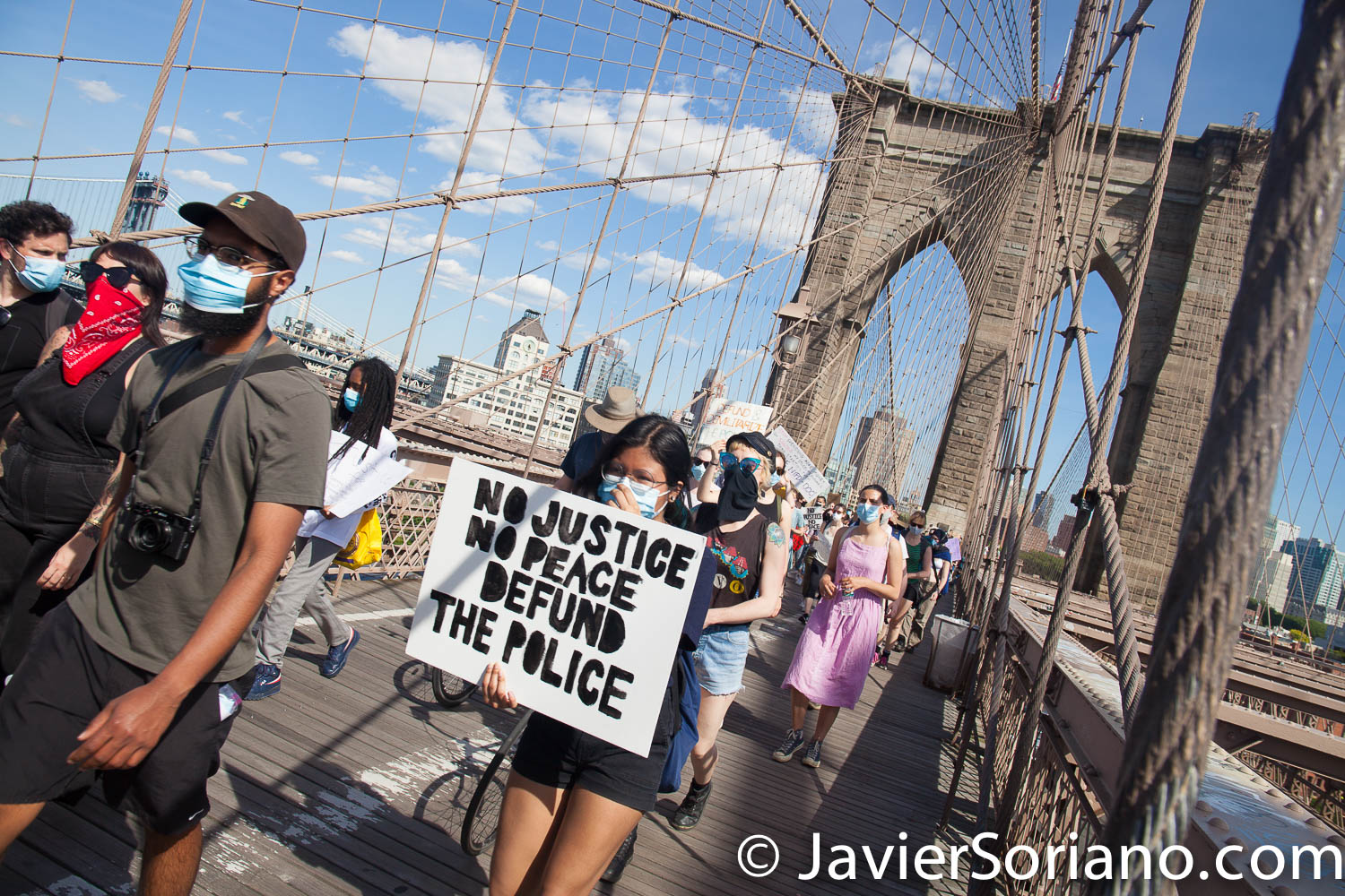 Monday, June 8, 2020. Brooklyn, New York City – Student-led rally and march. Fort Green Park - Borough Hall - City Hall, Manhattan. Photo by Javier Soriano/www.JavierSoriano.com