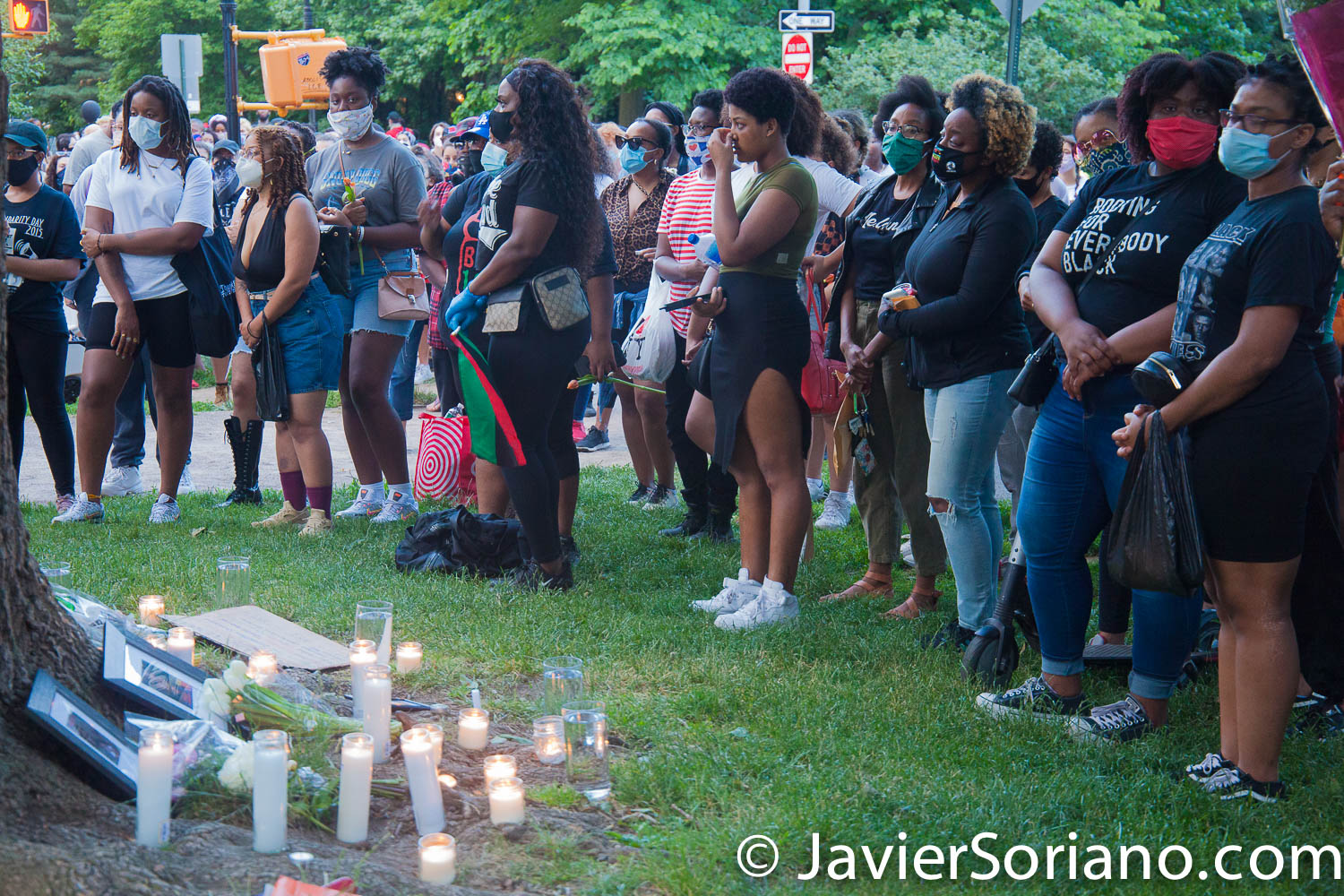 Friday, June 19, 2020. New York City – People celebrate Juneteenth in Prospect Park, Brooklyn. They had a vigil for women kill by police officers and by civilians. Protestors also demand justice for people killed by police officers in the country and they want NYC Council members and NYC Mayor to defund the NYPD by at least one billion and invest in low income communities. Photo by Javier Soriano/www.JavierSoriano.com