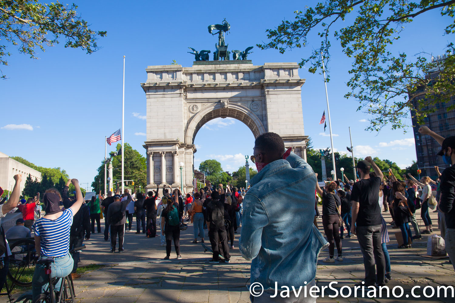 Monday, June 1, 2020. New York City - Rally at Grand Army Plaza in Brooklyn. Photo by Javier Soriano/www.JavierSoriano.com