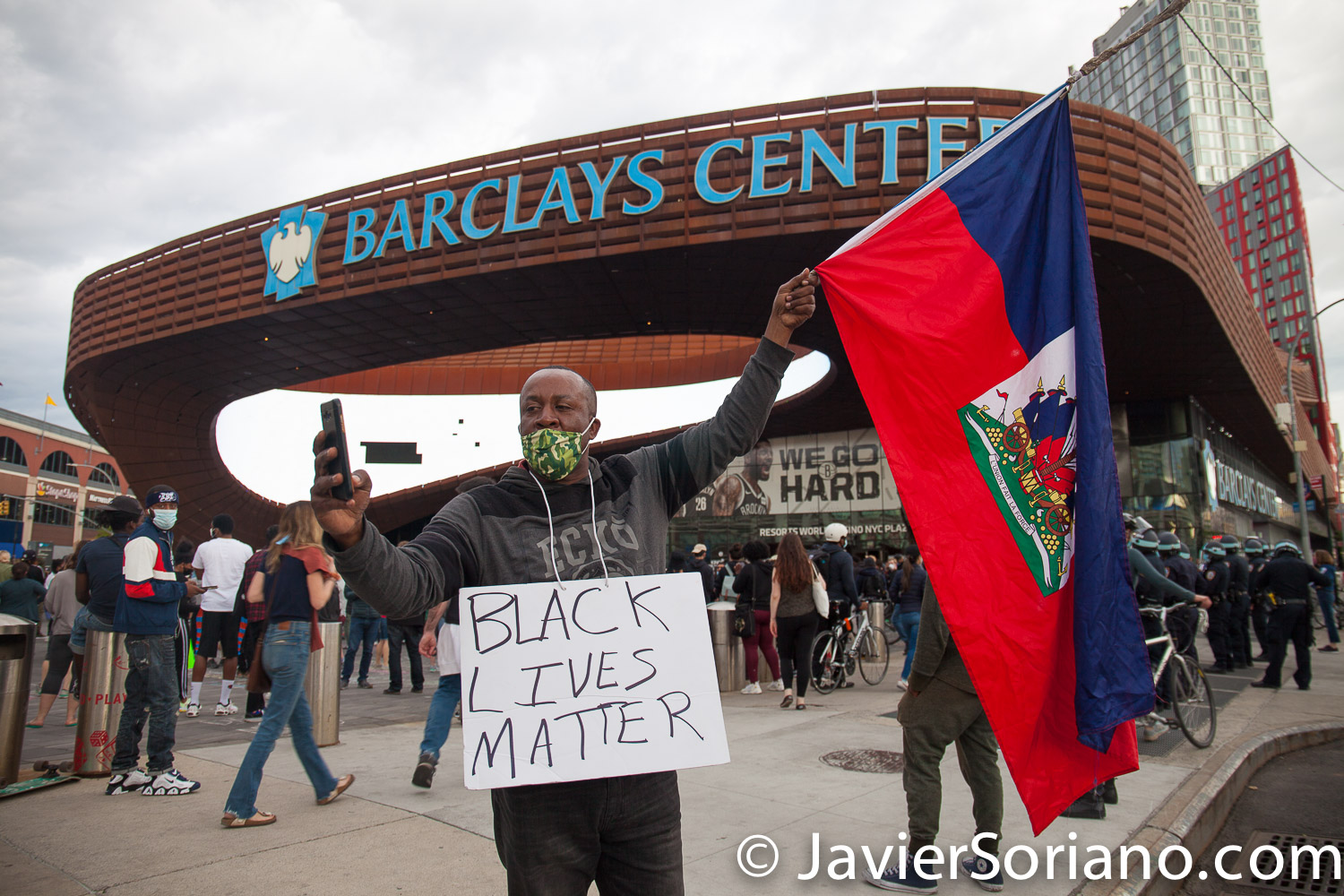 Monday, June 1, 2020. New York City - Rally at Barclays Center in Brooklyn. People demand justice for George Floyd and other people killed by police officers. Photo by Javier Soriano/www.JavierSoriano.com