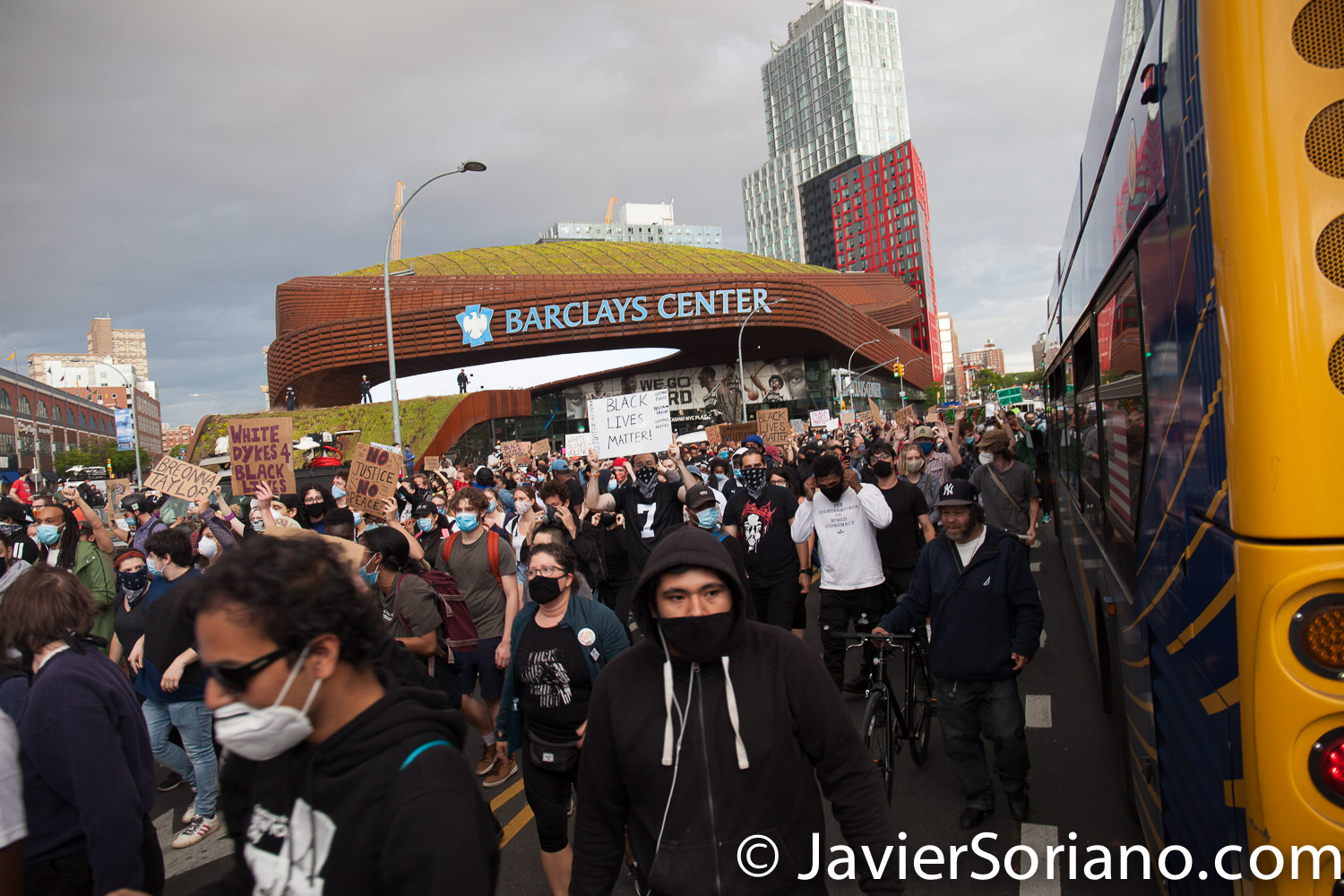 Monday, June 1, 2020. New York City - March from Barclays Center in Brooklyn to Manhattan. People demand justice for George Floyd and other people killed by police officers. Photo by Javier Soriano/www.JavierSoriano.com