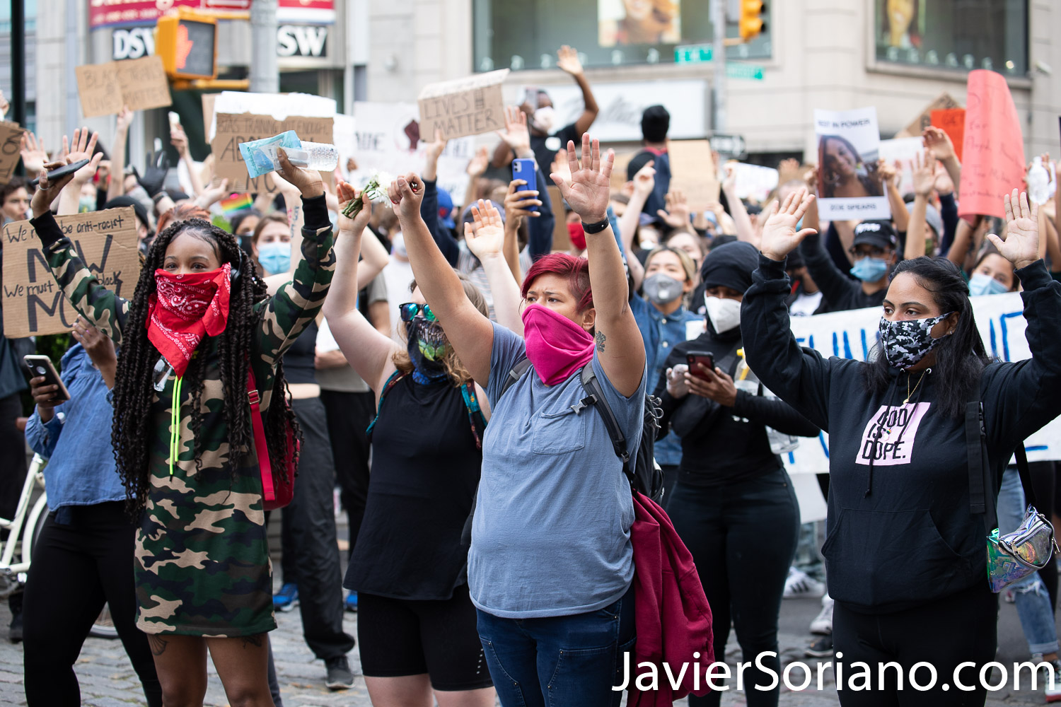 Tuesday, June 2, 2020. New York City - March from The Stonewall Inn to the Lower Manhattan to demand justice for George Floyd, Breonna Taylor, and too many others victims of police violence in the United States of America. Protestors at Union Square. Photo by Javier Soriano/www.JavierSoriano.com