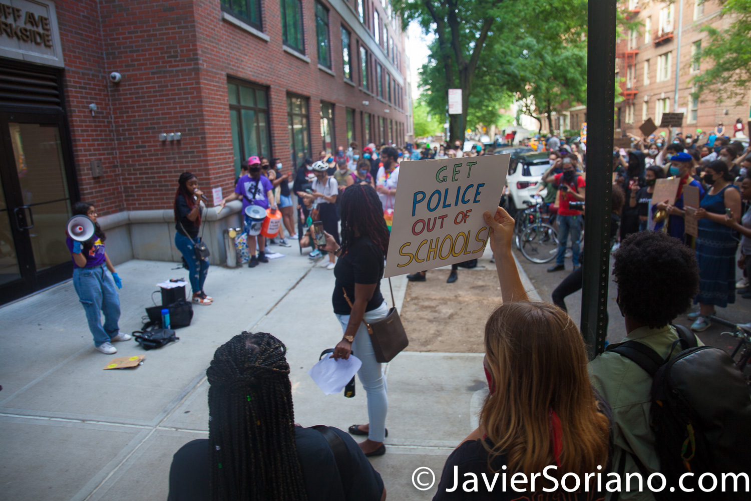 """Thursday, June 18, 2020. Brooklyn, New York City – """"Panel for Educational policy (PEP) rally for Police-Free Schools."""" Students, teachers and parents demand police-free schools and funding for restorative justice programs and counselors. Photo by Javier Soriano/www.JavierSoriano.com"""