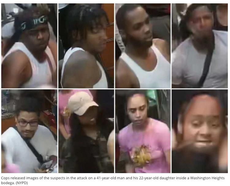 El NYPD dió a conocer fotos tomadas del video. El NYPD insta a cualquier persona que tenga información sobre estas personas que llame a Crime Stoppers de manera anónima. En Inglés: 1800-577-8477 o en Español al 1-888-577-4782.