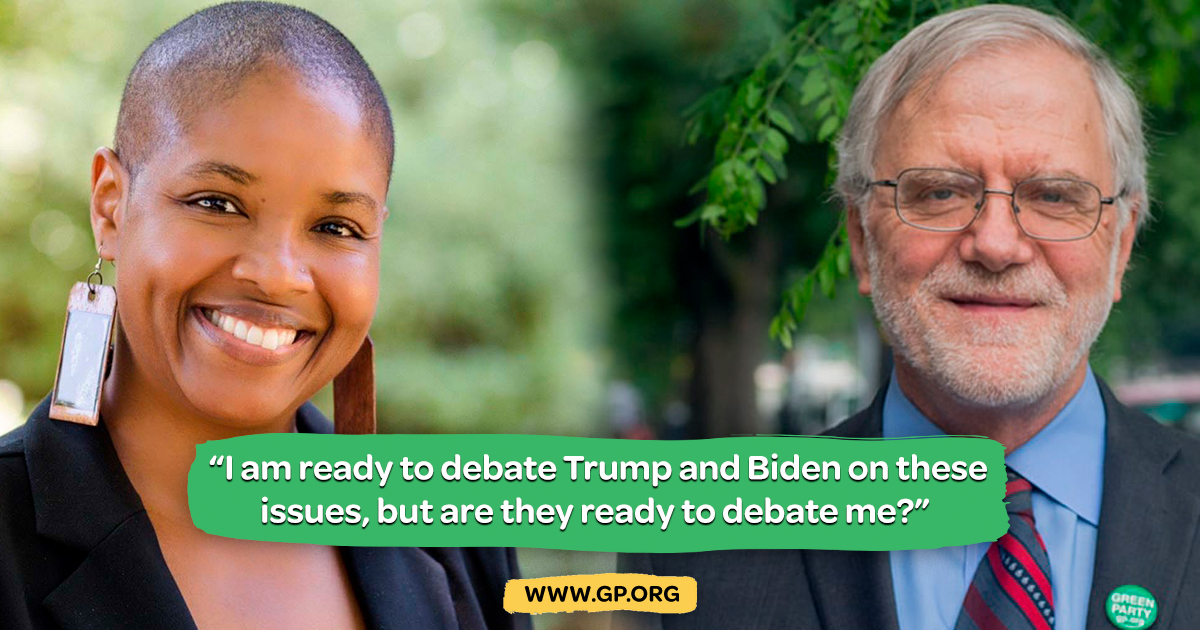 Howie Hawkins is the Green Party Nominee for President. Angela Walker is the Green Party Nominee for Vice President. Photo by gp.org