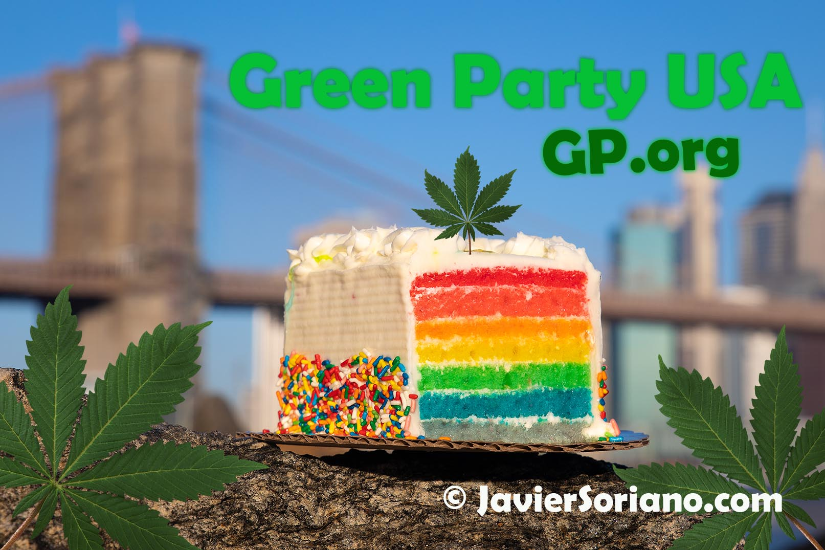 The Green Party of the United States of America supports the legalization of Marijuana. Photo/Artwork by Javier Soriano/www.JavierSoriano.com