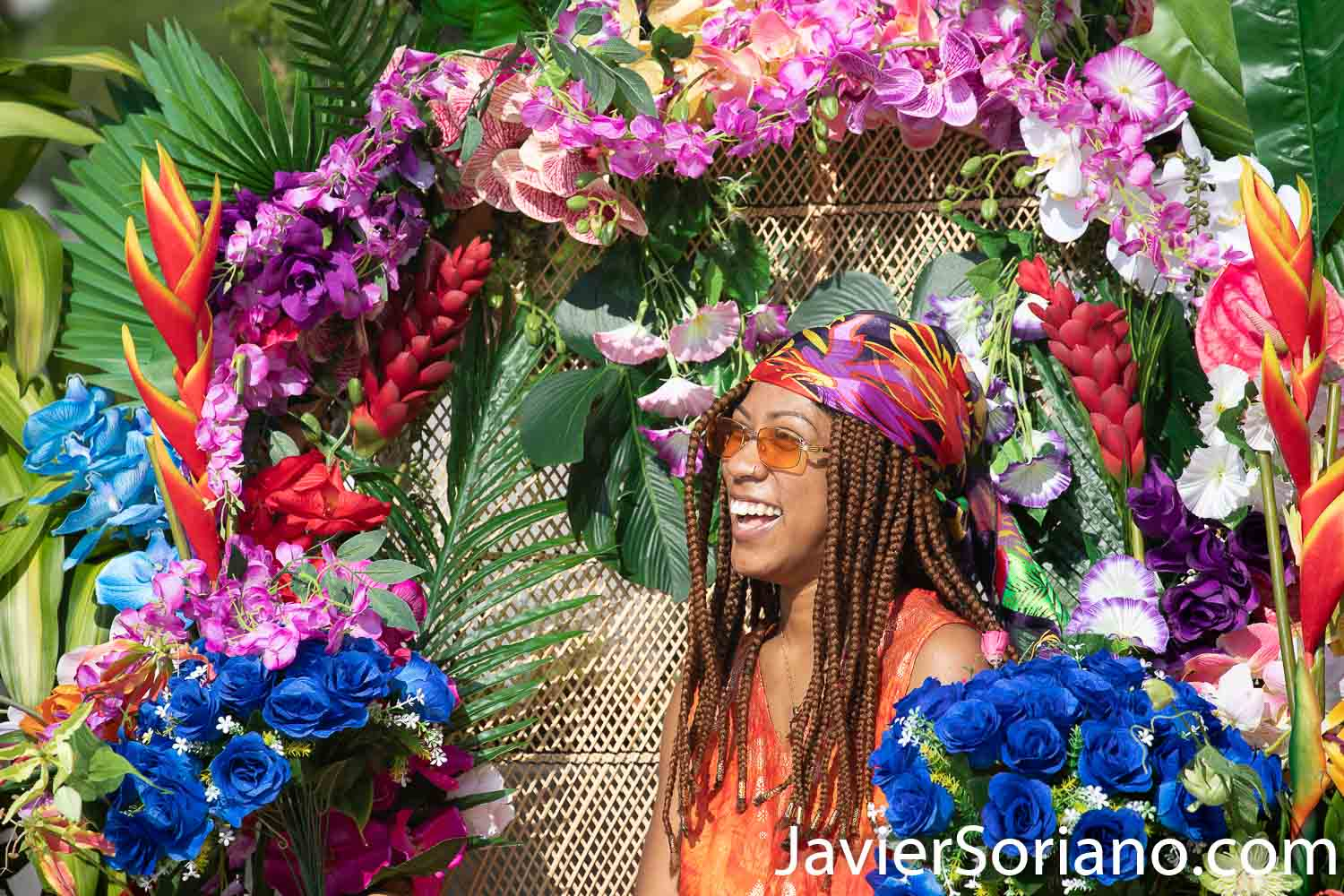 """Sunday, September 6, 2020. Brooklyn, New York City - """"Community Carnival"""" at Grand Army Plaza in Brooklyn. The Wide Awakes and Large Up said: """"We celebrate and honor the beauty and brilliance of Caribbean culture. As many of you all know, due to COVID-19, the annual West Indian Day parade is going virtual this year. With love and in solidarity, The Wide Awakes and Large Up are excited to amplify the voices of our Caribbean brothers and sisters with a fun filled day of unity and empowerment."""" Photo by Javier Soriano/www.JavierSoriano.com"""