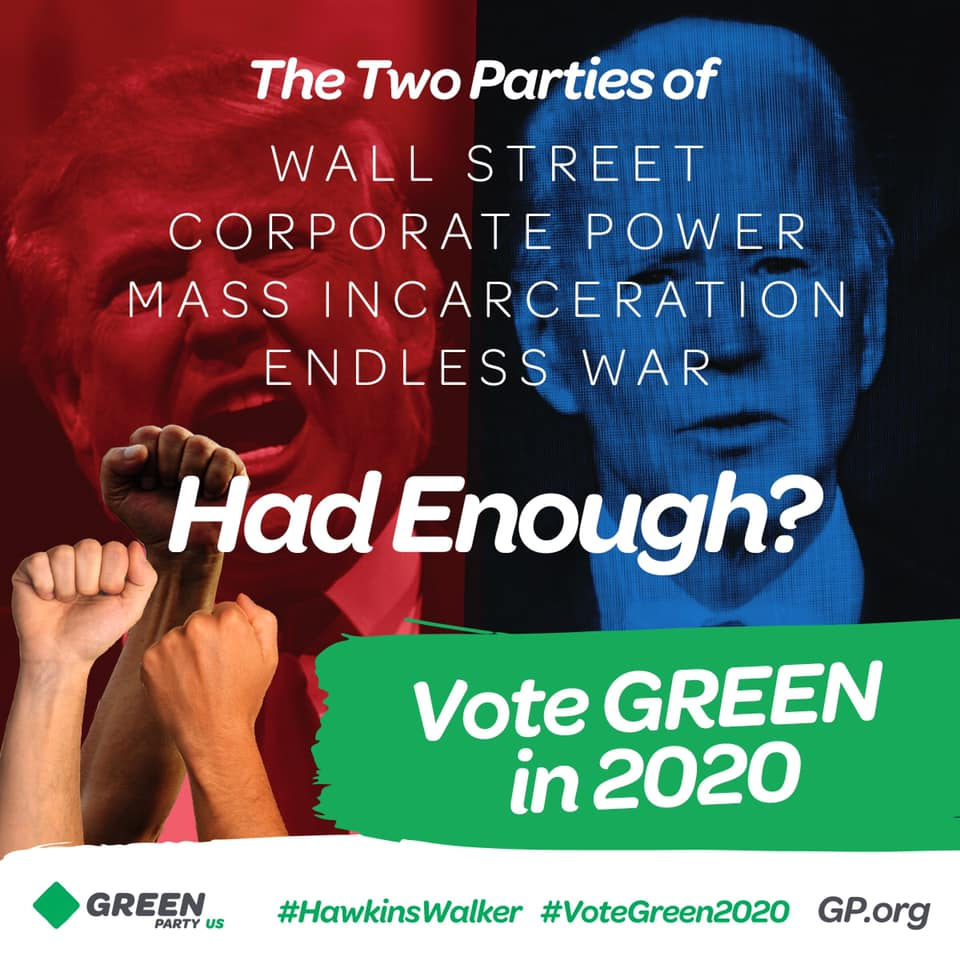 Vote Green Party in 2020. Image by GP.org