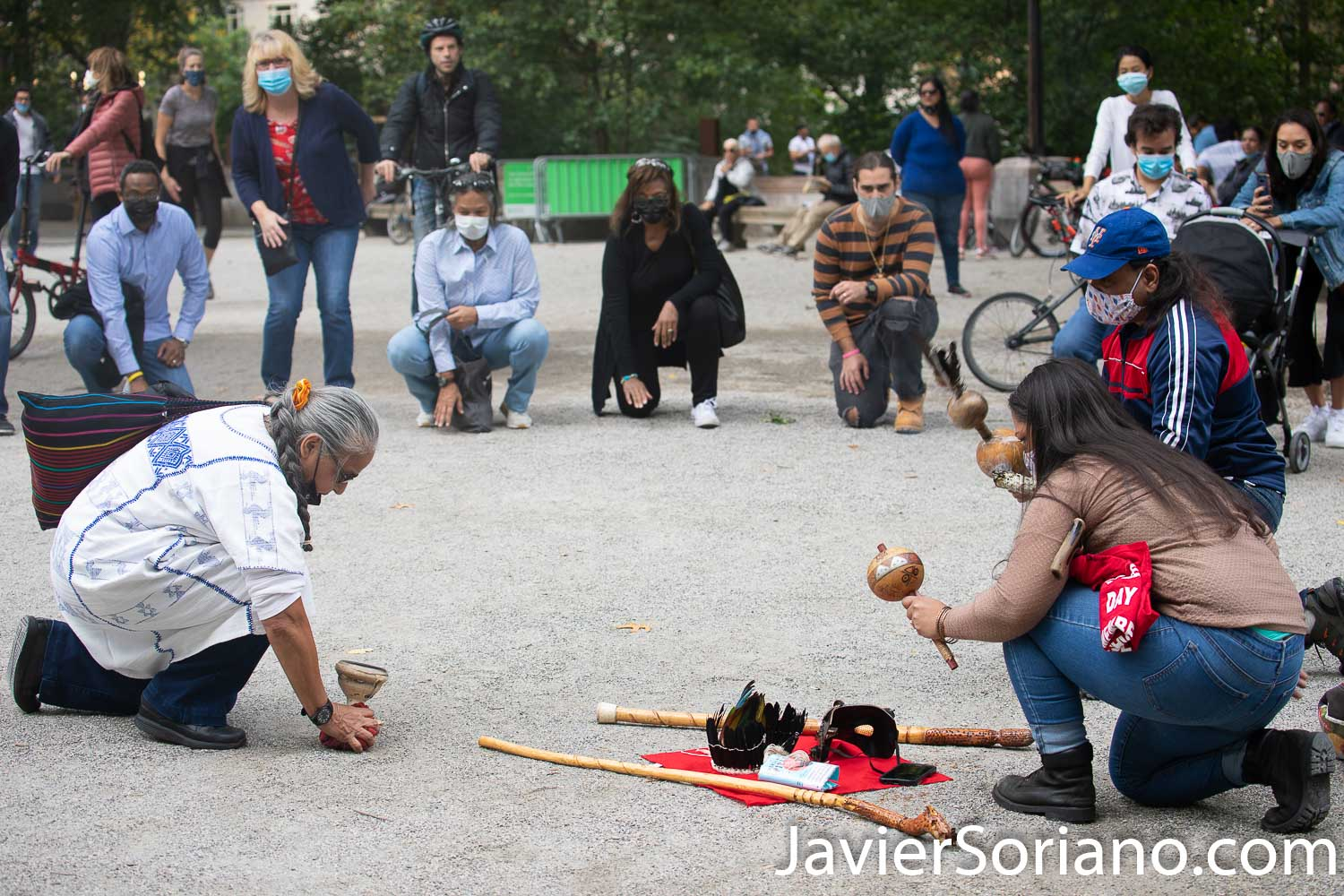 Sunday, October 11, 2020. Manhattan, New York City - 13th Annual Indigenous Day of Remembrance. Instead of celebrating Día de la Raza or Columbus Day, we celebrate Indigenous Peoples' Day. Photo by Javier Soriano/www.JavierSoriano.com
