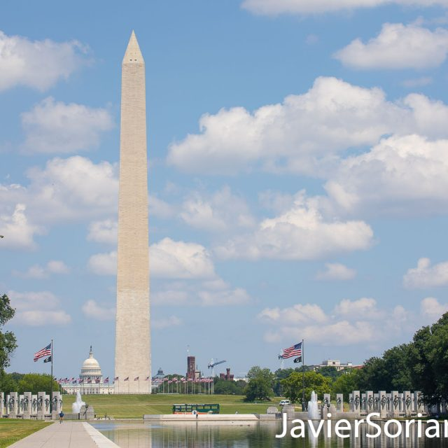 Wednesday, July 8, 2020. The Washington Monument and the United States Capitol in Washington, D. C. Photo by Javier Soriano/www.JavierSoriano.com