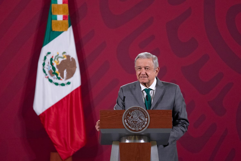 Presidente mexicano Andrés Manuel López Obrador (AMLO) durante la conferencia de prensa del martes 3 de noviembre de 2020. Foto por gobierno mexicano.