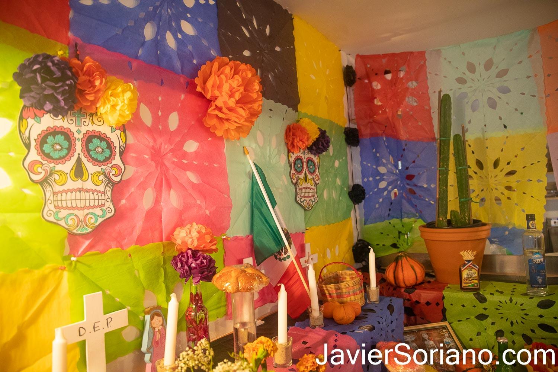Domingo 1 de noviembre de 2020. Manhattan, Ciudad de Nueva York – El Cabrón Taquería celebró el Día De Muertos. Foto por Javier Soriano/www.JavierSoriano.com