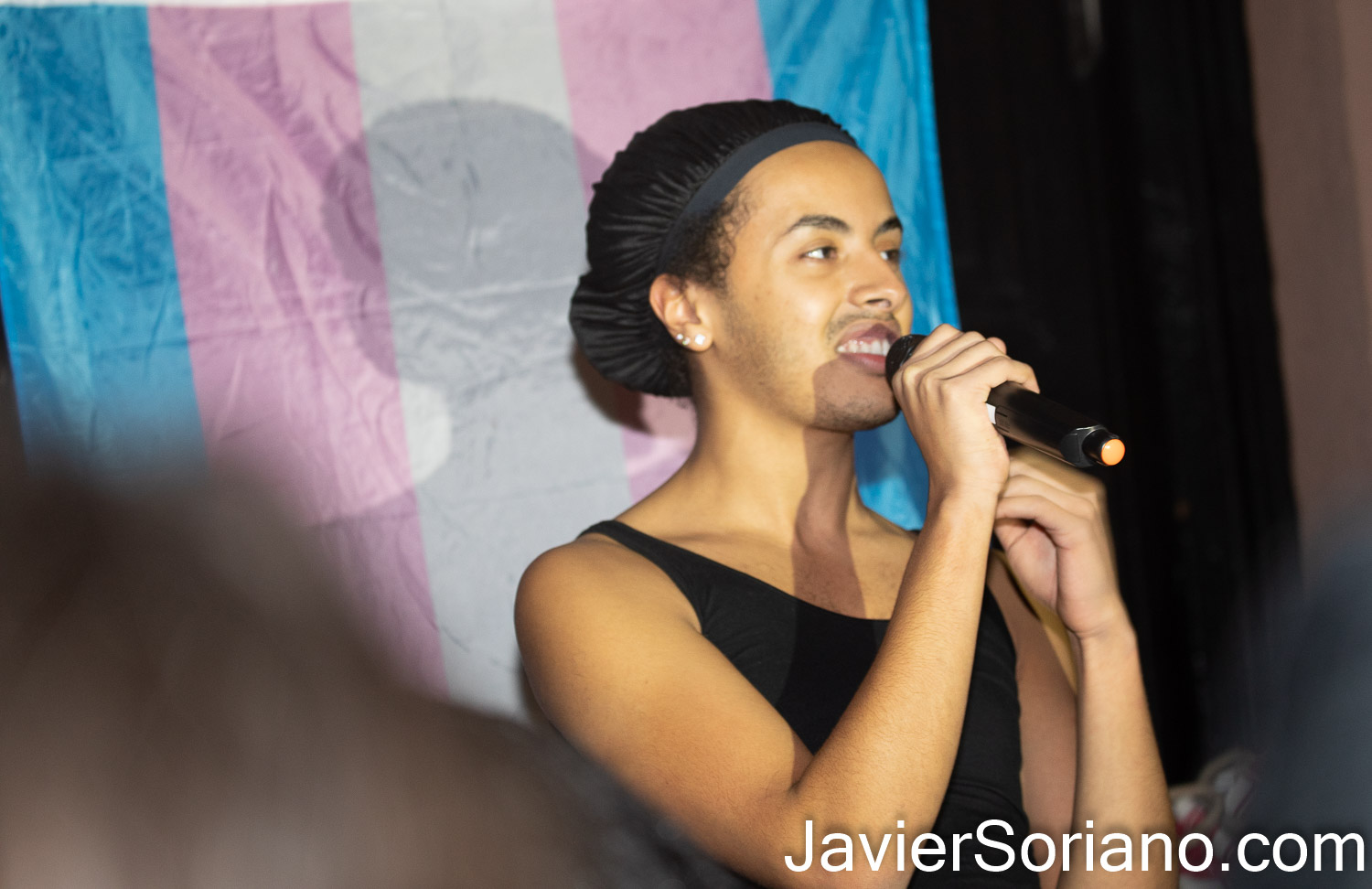 """Thursday, November 5, 2020. Manhattan, New York City – Rally and march """"WE CHOOSE FREEDOM."""" Trans rights activists demand respect for Black Trans women and Black Trans men. Photo by Javier Soriano/www.JavierSoriano.com"""