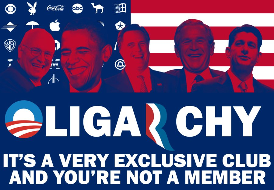 """The United States is an oligarchy, not a democracy. """"Oligarchy is a very exclusive club and you are not a member."""" Image by Tehran Times."""