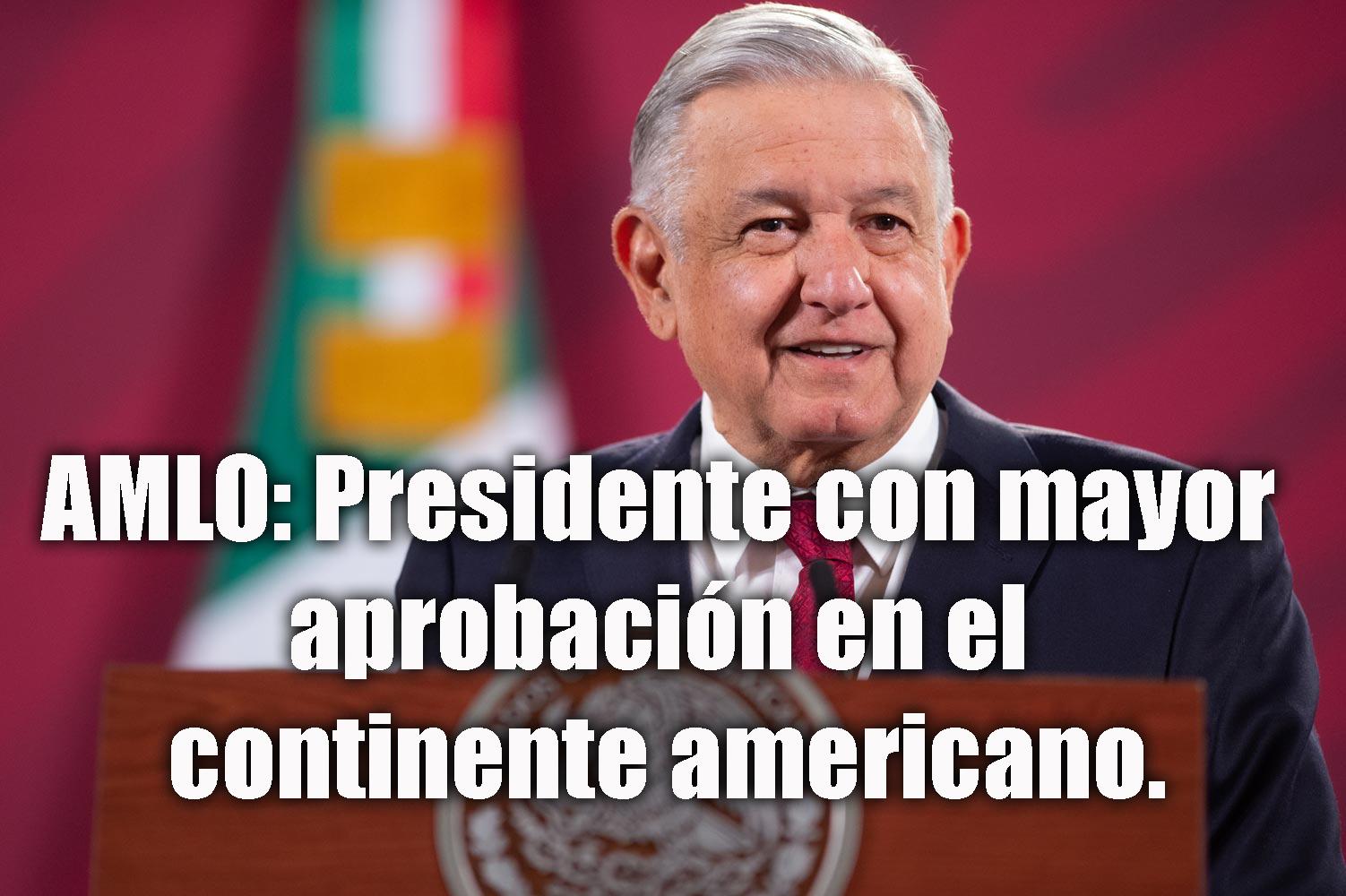 Sábado 2 de enero de 2021 - De acuerdo a Morning Consult, el presidente mexicano Andrés Manuel López Obrador (AMLO) es el líder nacional con mayor aprobación en el continente americano y segundo mejor lider en el mundo.  Foto por gobierno mexicano.