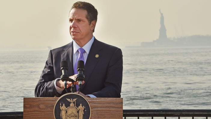 December 13, 2015-- New York City. Governor of New York state Andrew Cuomo. (Kevin P. Coughlin/Office of the Governor)